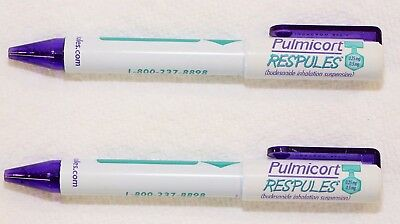2 Pharmaceutical Pens  Pulmicort  Another Stubby Colorful  New