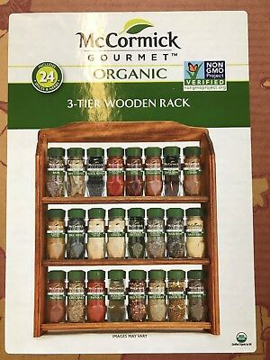 Organic Spice Rack Cool MCCORMICK GOURMET ORGANIC Wood Spice Rack 60 Assorted Herbs Spices