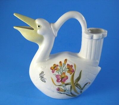 Vintage Pottery Pelican Watering Can Lenwile Ardalt Artware Made in Japan