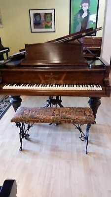 """Rosewood 7'2"""" Grand Rare Steinway & Sons 1866 Model in Artistic Case Plays well"""