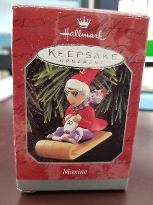 Hallmark Keepsake Ornament - 1998 Maxine  sledding