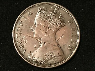 T2: World Coin Hong Kong 1866 Cent Free Shipping in U.S.