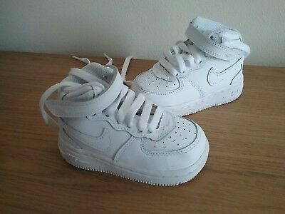 baby NIKE AIR FORCE 1 white TRAINERS hi tops size 3.5 WORN ONCE