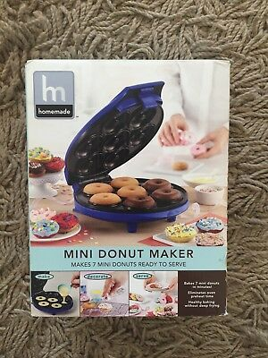 Mini Donut Maker Machine Electric Automatic Nonstick Baking Griddle Cake Food