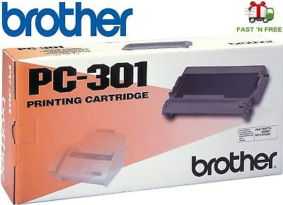 Genuine Brother PC-301 Fax/Printer Printing Cartridge New/Sealed - $0 Fast Ship
