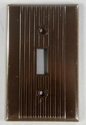 Vintage Leviton Bakelite Ribbed Single Switch Plate Cover 3901 Brown