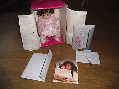 """Marie Osmond """"Jessica"""" Tiny Tots Collection 6"""" Doll Porcelain MIB Certificate"""