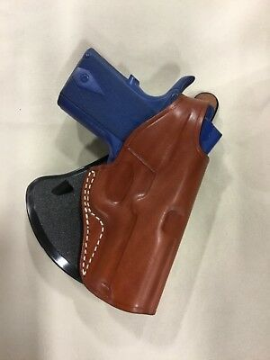 """LEATHER PADDLE HOLSTER: COLT OFFICER 1911 - 3"""", KIMBER ULTRA/PRO CARRY (#  3093)"""