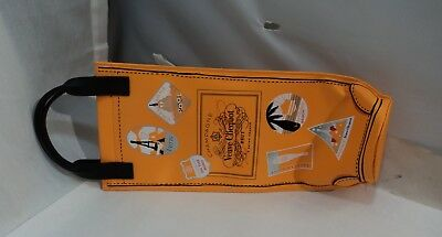 Champagne Veuve Clicquot Orange Insulated Ice Jacket Bottle Cover Sleeve Bag EUC