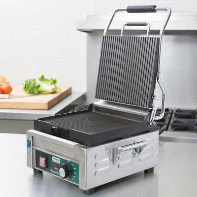 Waring WPG150 Panini Perfetto Grooved Top & Bottom Panini Sandwich Grill
