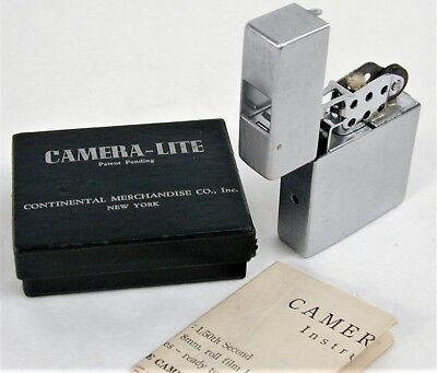 Continental Camera-Lite Zippo lighter style spy Subminiature camera