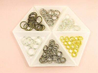 50 or 100 x Extra Thick OPEN Split JUMP RINGS Key RINGS DIY Findings  8mm - 16mm