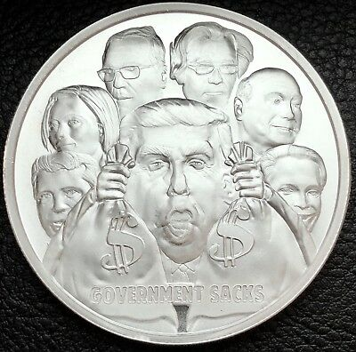 2017 Death of The Dollar Series #9 Government Sacks 1 Troy oz .999 Silver Coin