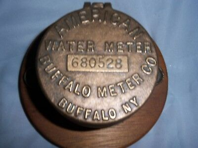 Vintage American Water Meter Brass - Buffalo Meter Co - Buffalo Ny