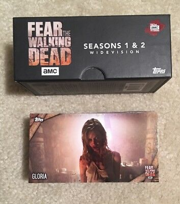 Topps Fear The Walking Dead Season 1 & 2 Widevision Complete Set + Box /1500 QTY