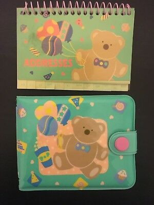 Vintage Sanrio Fairy Kei 80s Just For Fun Bear Wallet And Address Book