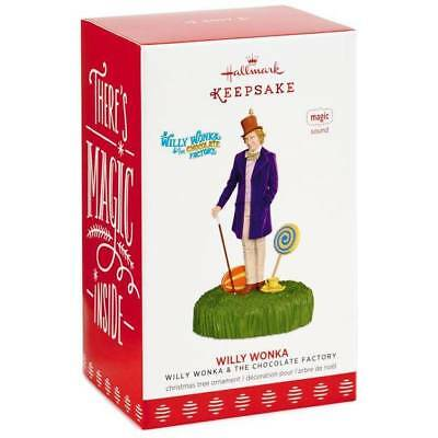 2017 Hallmark WILLY WONKA & and The Chocolate Factory Movie magic sound ORNAMENT