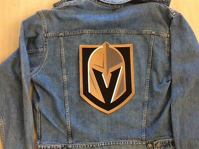 "VEGAS KNIGHTS JERSEY PATCH NHL TEAM JERSEY CHEST EMBLEM  12"" x 8 3/4"" PLAYOFFS"