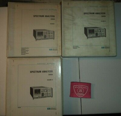 Hewlett Packard 3585A Set Vol.1-3 Operating And Service  Manual