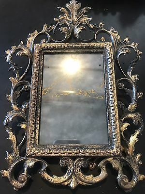 Antique French Rococo Louis XVI Brass Finish Picture Frame