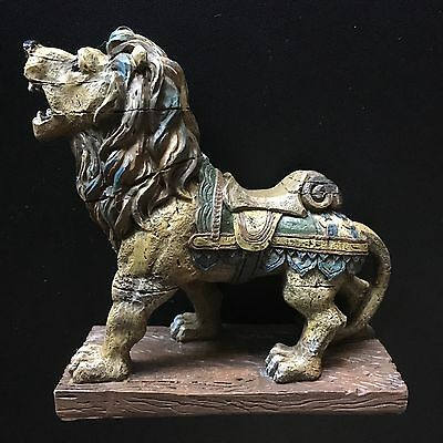 "NEW Vintage Looking Carousel Art Lion Resin 5"" Figurine FREE SHIPPING!"