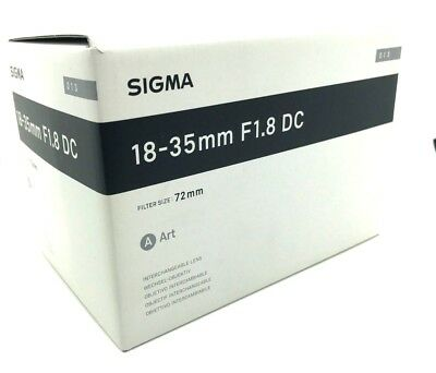 New SIGMA 18-35mm f/1.8 DC HSM Art Lens for SONY Alpha A Mount APS-C Format