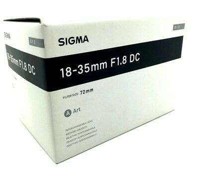 New SIGMA 18-35mm f/1.8 DC HSM Art Lens for SIGMA Mount