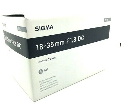 New SIGMA 18-35mm f/1.8 DC HSM Art Lens for NIKON F