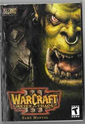2002 Blizzard Entertainment WARCRAFT 3 REIGN OF FIRE Game Manual Paperback Book