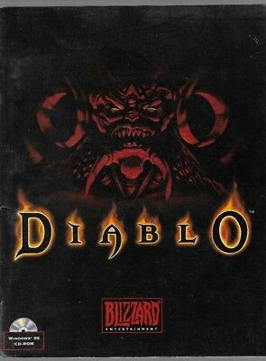 1996 Blizzard Entertainment DIABLO Game PC Manual Paperback Book