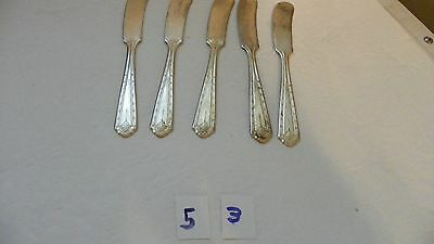 Rare   Set Of 5  Majestic   Mjc1   Butter Spreaders     Silverplate