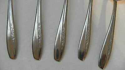 Set Of 5   Insico  International Silver   Ins74    Gumbo Soup Spoons   Stainless