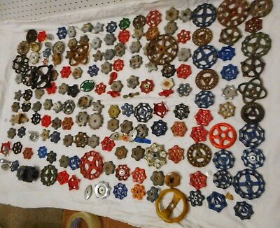 Vintage Used Lot 160 + Faucet Valve Handles Steam Punk Art Garden