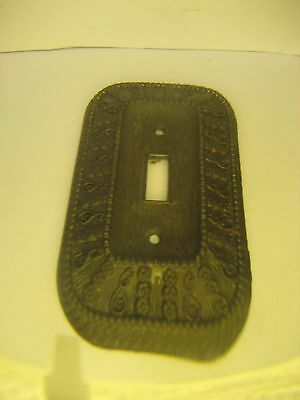 Vintage 1968 American Tack And Rowe Co. Brass Electric Switch Plate/outlet Cover