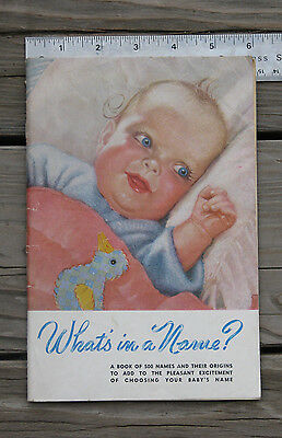 """RARE ~ Antique 1940s HEYWOOD-WAKEFIELD """"What's In A Name?"""" Booklet Baby Carriage"""