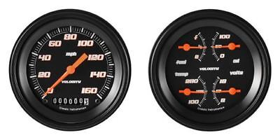 Velocity Black Series Two Gauge Set - Classic Instruments - VS02BBLF