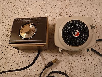 Vintage 1970's Guard All Small Appliance Lamp Timer HT-75 / GE Automatic Timer