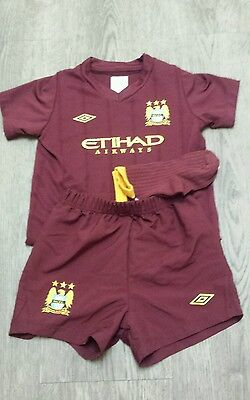 Babies Manchester City Away Full Kit 2012-2013 Size Age 18-24 Months