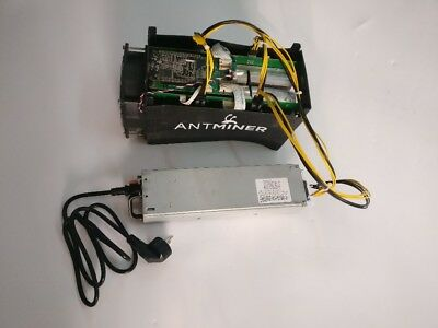 USED Bitmain Antminer S5 BTC Miner Bitcoin ASIC Mining Machine With Power Supply