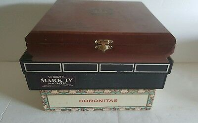 Cigar Box Lot Of 3 Eden Of Tampa  Diamond Crown Mark Iv  Great Vintage Set
