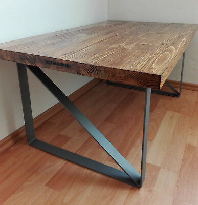 Industrial Coffee Table Solid Furniture Living Room Handmade Unit