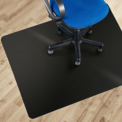 "36""x48"" Black Polycarbonate Office Chair Mat Hard Wood Floor Protection Carpet"