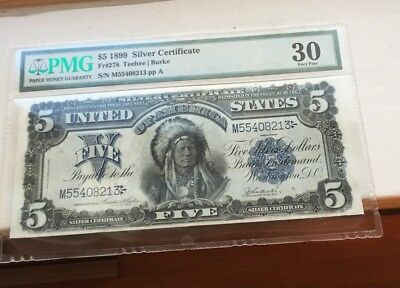 $5 Chief Note PMG Graded 30
