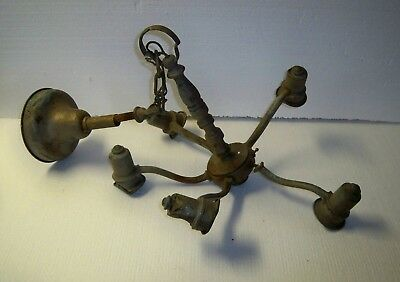 Architectural Salvage Metal Light Fixture Hanging Light Fixture for restoration