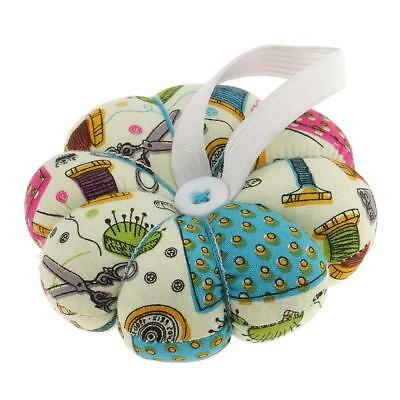 Handy Pumpkin Shaped Pin Cushion with Wrist Band Wearable Needle Pincushion