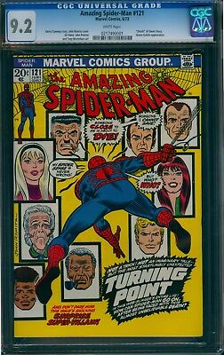 Amazing Spider-Man 121 CGC 9.2  Death of Gwen Stacy  WHITE pages!