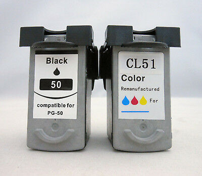 Ink Cartridge for Canon Pixma iP6310 iP6210 MX310 MP460 MP450 180 PG50 CL51 2pK