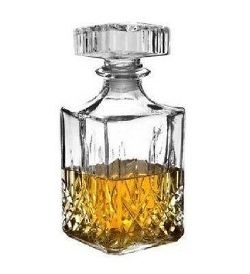 90cl whisky Glass Crystal Bottle Decanter Wine Sherry Liquer Jar UK STOCK FAST