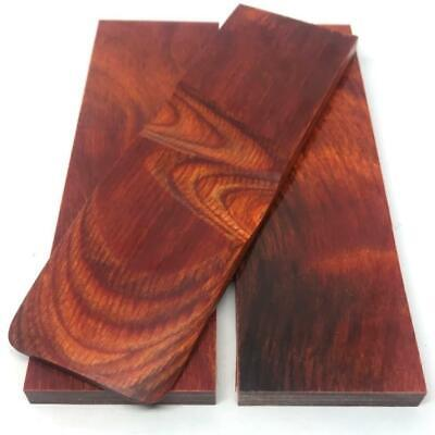 """Dymalux """"Cocobolo"""" Laminated Wood Knife Handle Scales Slabs- 1/4"""" x 1.5"""" x 5"""""""