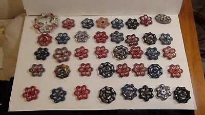40 Vintage Valve Handles Water Faucet Knobs STEAMPUNK Industrial Arts Crafts